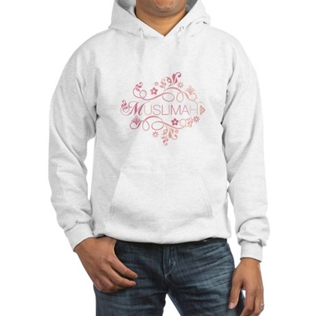 Muslimah Pink Floral Items & Hooded Sweatshirt
