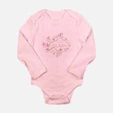 Muslimah Pink Floral Items & Long Sleeve Infant Bo