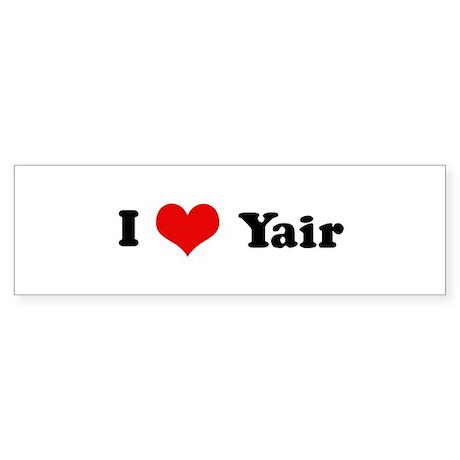 I Love Yair Bumper Sticker