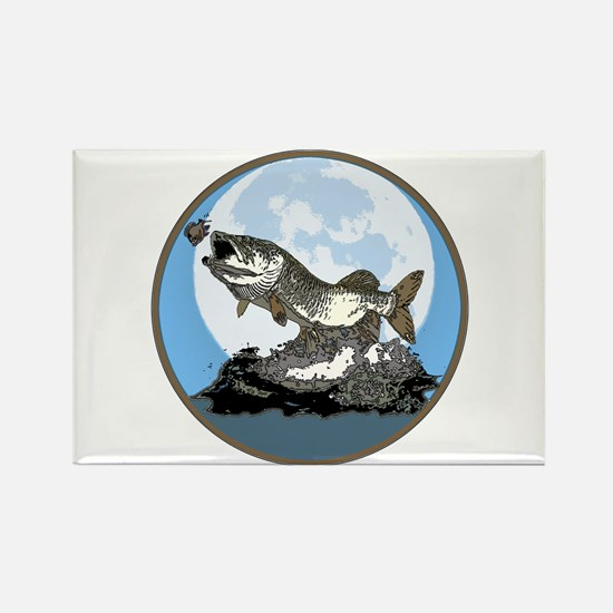 Musky moon light Rectangle Magnet