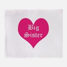 Big Sister, bright, heart, Throw Blanket
