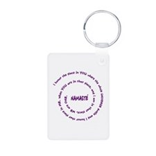 Namaste Meaning in Sacred Pu Keychains