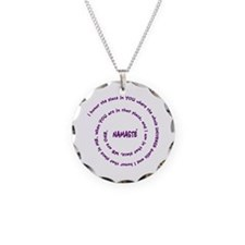 Namaste Meaning in Sacred Pu Necklace