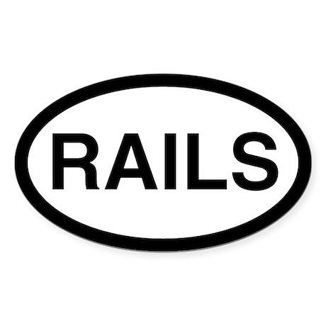 Rails Oval Sticker