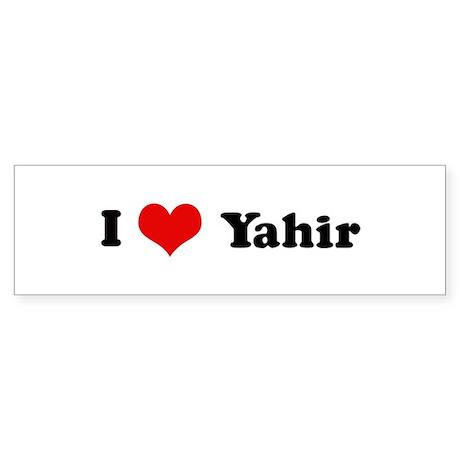 I Love Yahir Bumper Sticker
