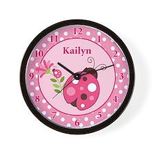 Ladybug Garden Wall Clock - Kailyn