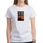 Atlanta Nights Women's White T w/ Excerpt on Back