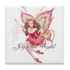 Christmas Fairy Tile Coaster