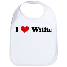 I Love Willie Bib