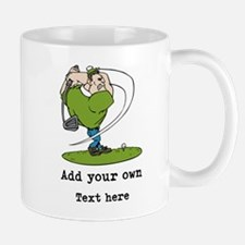 Golf Cartoon, Custom Text Mug