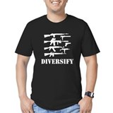 Guns Fitted Dark T-Shirts