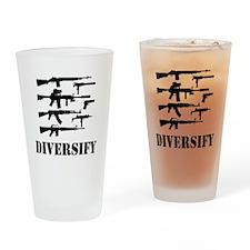 Diversify Drinking Glass