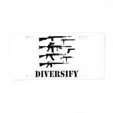 Diversify Aluminum License Plate