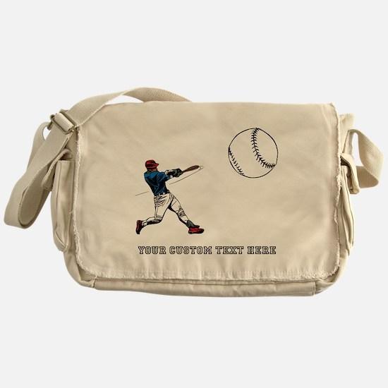 Baseball Player with Custom T Messenger Bag
