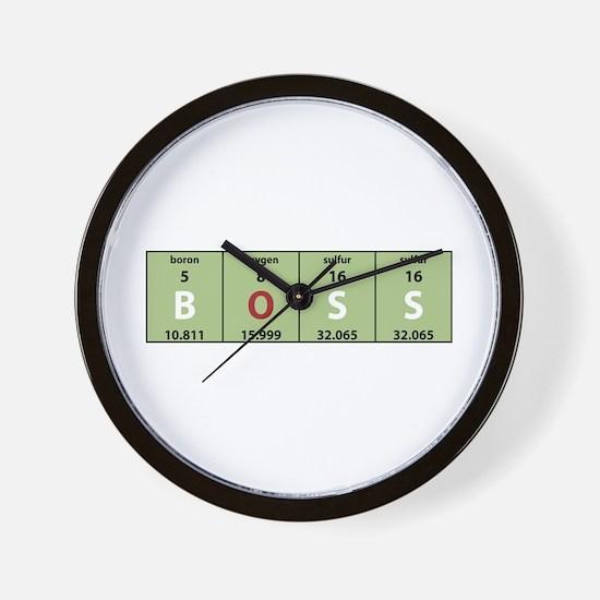 Chemistry Boss Wall Clock