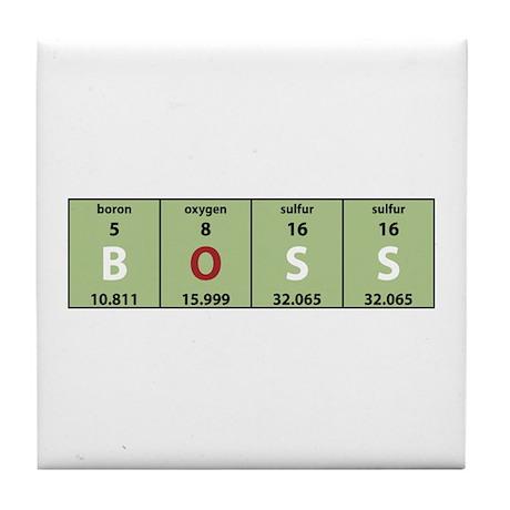 Chemistry Boss Tile Coaster