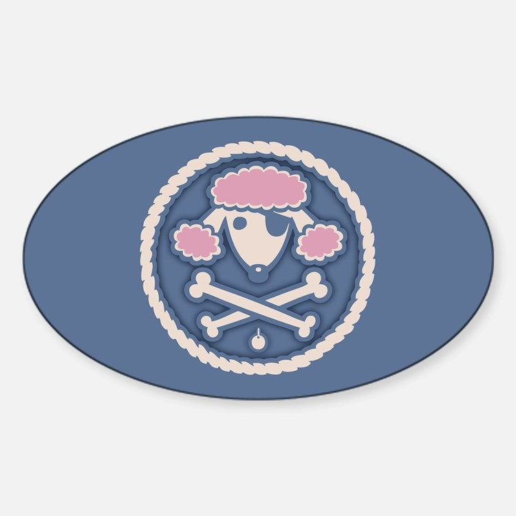 Poodle Pirate III Sticker (Oval)