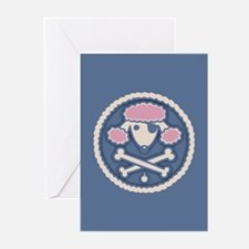 Poodle Pirate III Greeting Cards (Pk of 10)