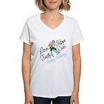 Holiday Hope Prostate Cancer Women's V-Neck T-Shir