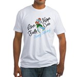 Holiday Hope Prostate Cancer Fitted T-Shirt