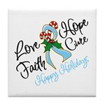 Holiday Hope Prostate Cancer Tile Coaster