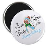 Holiday Hope Prostate Cancer Magnet