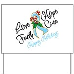 Holiday Hope Prostate Cancer Yard Sign