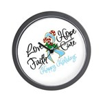Holiday Hope Prostate Cancer Wall Clock