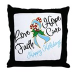 Holiday Hope Prostate Cancer Throw Pillow