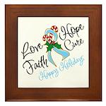 Holiday Hope Prostate Cancer Framed Tile