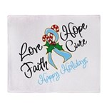 Holiday Hope Prostate Cancer Throw Blanket