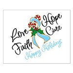 Holiday Hope Prostate Cancer Small Poster