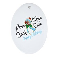 Holiday Hope Prostate Cancer Ornament (Oval)