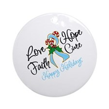 Holiday Hope Prostate Cancer Ornament (Round)