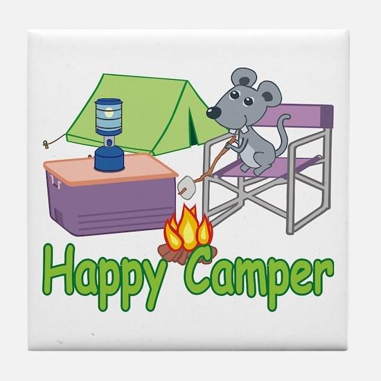 Happy Camper Tile Coaster