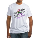 Holiday Hope Pancreatic Cancer Fitted T-Shirt