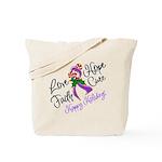 Holiday Hope Pancreatic Cancer Tote Bag