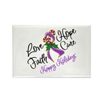 Holiday Hope Pancreatic Cancer Rectangle Magnet (1
