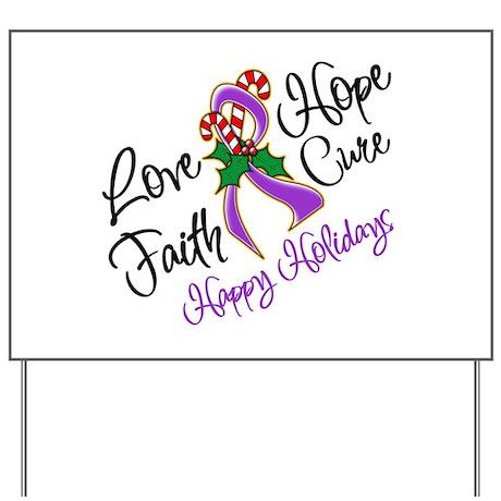 Holiday Hope Pancreatic Cancer Yard Sign