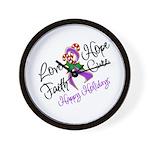 Holiday Hope Pancreatic Cancer Wall Clock