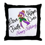 Holiday Hope Pancreatic Cancer Throw Pillow