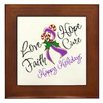 Holiday Hope Pancreatic Cancer Framed Tile