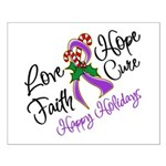 Holiday Hope Pancreatic Cancer Small Poster