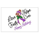 Holiday Hope Pancreatic Cancer Large Poster