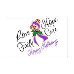 Holiday Hope Pancreatic Cancer Mini Poster Print