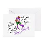 Holiday Hope Pancreatic Cancer Greeting Cards (Pk