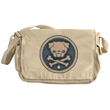 Pirate Pug -Blu Messenger Bag