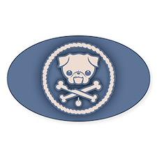 Pirate Pug -Blu Decal