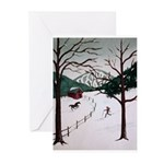 Winter Skier Greeting Cards (Pk of 20)