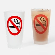No Smoking Drinking Glass